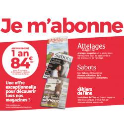 Trio : Attelages + Sabots + Les Cahiers de l'âne